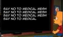 say no to medical mesh bart simpson