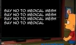 say no to medical mesh bart simpson