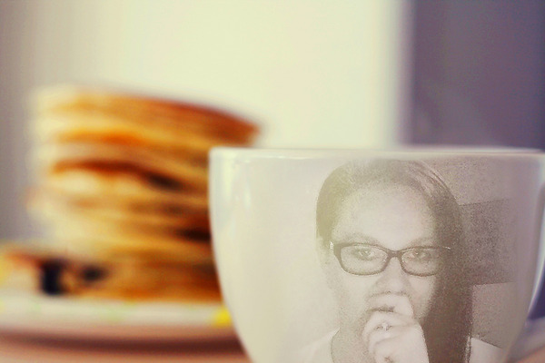 me on coffee cup