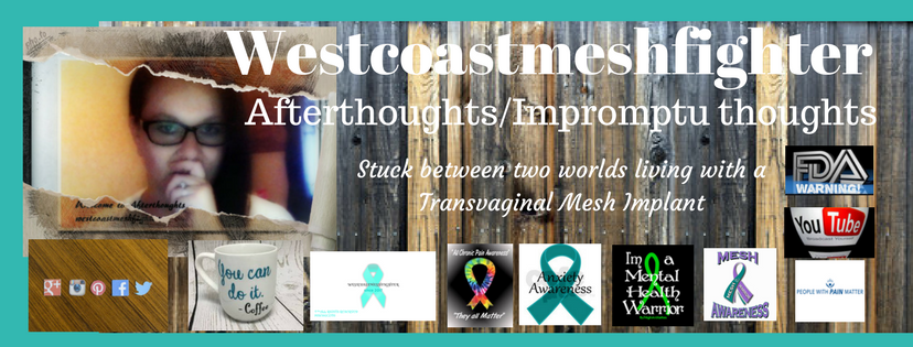 Celebrating a milestone, Westcoastmeshfighter has made it to 6 months, Sharing my experiences while living with a Transvaginal Mesh Implant.