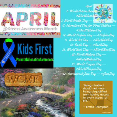 April2_ World Autism Awareness Day — _WorldAustismDay7_ World Health Day — _WorldHealthDay12_ International Day
